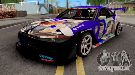 Nissan Silvia S15 Uras D1GP with Mika Girl v2 pour GTA San Andreas