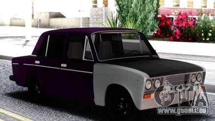 VAZ 2106 Aubergine avec du blanc pour GTA San Andreas