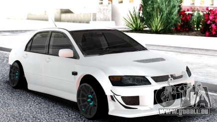 Mitsubishi White Lancer Evo 9 pour GTA San Andreas