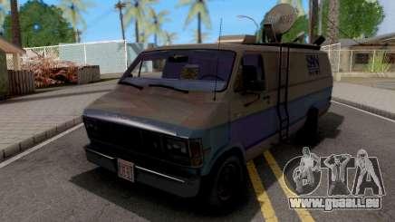Dodge Ram Van 1989 San News pour GTA San Andreas