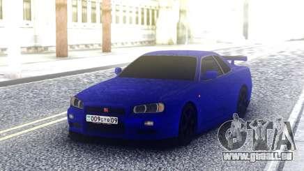 Nissan Skyline R34 Blue Sport pour GTA San Andreas