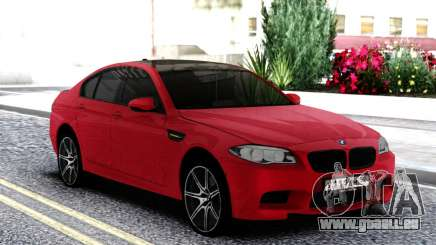 BMW M5 F10 Sedan Red pour GTA San Andreas