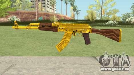 AKM Gold Cartel Skin pour GTA San Andreas