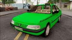 Peugeot 405 GLX Taxi v3 pour GTA San Andreas