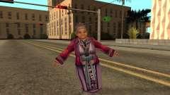 Flying Grandmother With Degenerative Disc Diseas