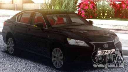 Lexus GS350F 2013 Black pour GTA San Andreas