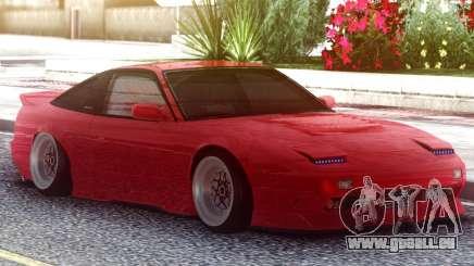 Nissan 180SX Red für GTA San Andreas
