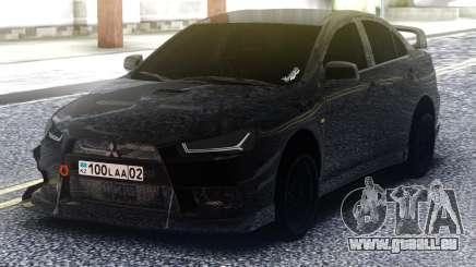 Mitsubishi Lancer Evolution X Black für GTA San Andreas