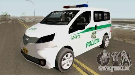 Nissan NV200 (Patrullas Colombianas) für GTA San Andreas