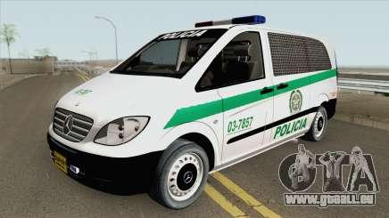 Mercedes-Benz Vito (Patrullas Colombianas) für GTA San Andreas