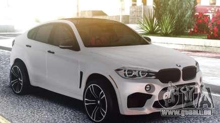 BMW X6M Classic White pour GTA San Andreas