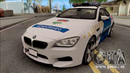 BMW M6 Magyar Rendorseg pour GTA San Andreas