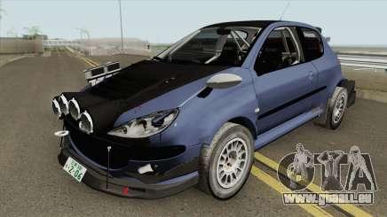 Peugeot 206 Rally (Street) Tuned für GTA San Andreas