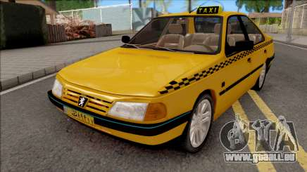 Peugeot 405 GLX Taxi v4 pour GTA San Andreas