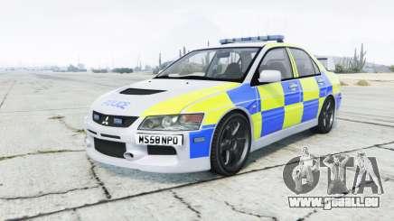 Mitsubishi Lancer Evolution VIII British Police pour GTA 5
