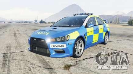 Mitsubishi Lancer Evolution X Essex Police pour GTA 5