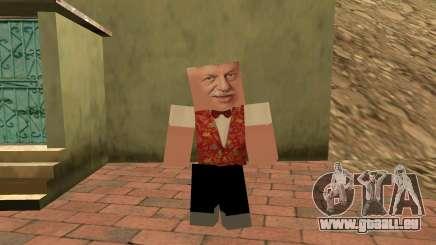 Michael Borisov (plomb Lotto) dans le style de Minecraft pour GTA San Andreas