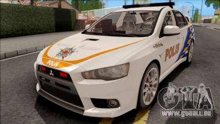 Mitsubishi Lancer Evolution X PDRM White für GTA San Andreas
