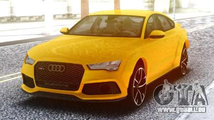 Audi RS7 Yellow für GTA San Andreas