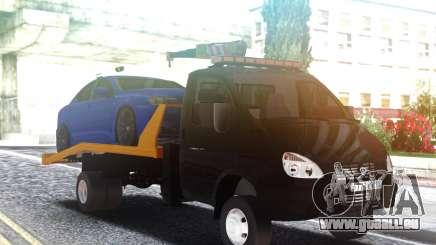 Remorque de camion GAZ-3302 avec une Voiture sur le toit pour GTA San Andreas