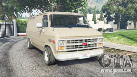 Chevrolet G20 Van grain brown pour GTA 5