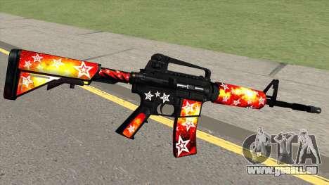 M4A1 (Galaxy Stars Fire Skin) pour GTA San Andreas