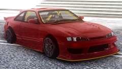 Nissan Silvia S14 Kouki Red für GTA San Andreas
