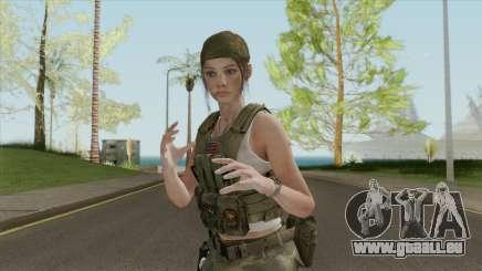 Claire Redfield Military (RE2 Remake) für GTA San Andreas