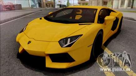 Lamborghini Aventador LP700-4 2011 Yellow pour GTA San Andreas