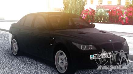 BMW M5 E60 M Black & White pour GTA San Andreas