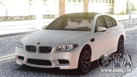 BMW M5 F10 White Sedan pour GTA San Andreas