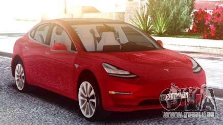 Tesla Model 3 Red für GTA San Andreas