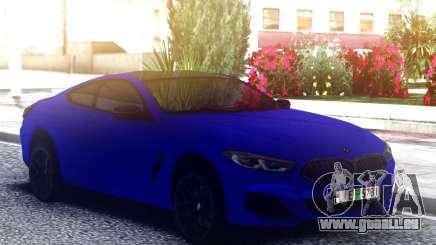 BMW 850i Blue für GTA San Andreas