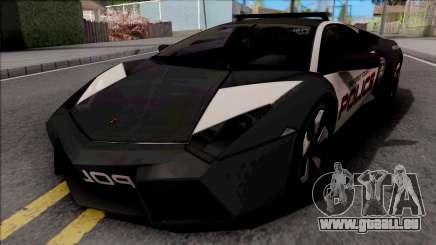 Lamborghini Reventon Police Black für GTA San Andreas