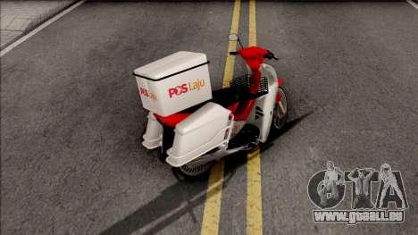 Modenas Kriss 100 PosLaju Malaysia pour GTA San Andreas