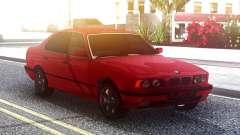 BMW 525i E34 Original Red pour GTA San Andreas
