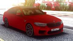 BMW M5 F90 Original Red pour GTA San Andreas