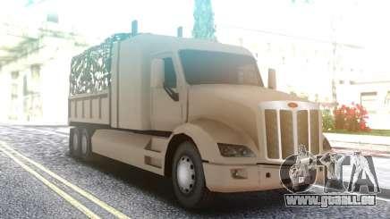 Peterbilt 579 Army Truck LQ pour GTA San Andreas
