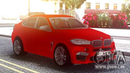 BMW X6M Original Red für GTA San Andreas