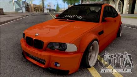 BMW 3-er E46 2000 Stance by Hazzard Garage pour GTA San Andreas