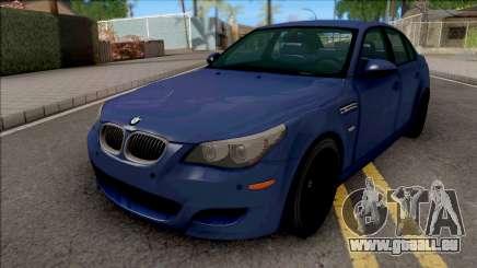BMW M5 E60 2009 Blue für GTA San Andreas