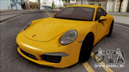 Porsche 911 Carrera S Yellow pour GTA San Andreas