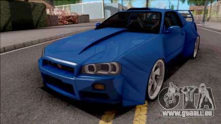 Nissan Skyline R34 GT-R Blue pour GTA San Andreas