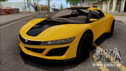 GTA V Dinka Jester Yellow für GTA San Andreas