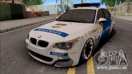BMW M5 E60 Magyar Rendorseg pour GTA San Andreas