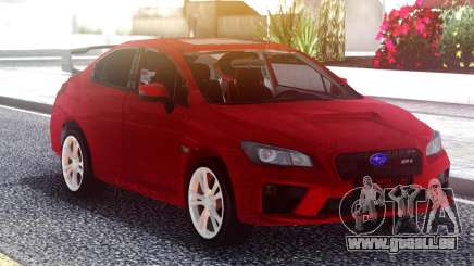 Subaru WRX 2015 Red Original pour GTA San Andreas