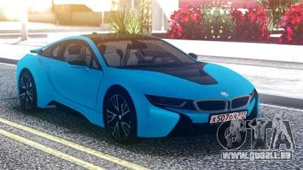 BMW i8 Blue für GTA San Andreas