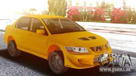 Mitsubishi Lancer Evolution VII Yellow pour GTA San Andreas