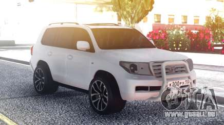 Toyota Land Cruiser 200 Original White pour GTA San Andreas