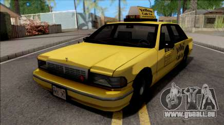 Chevrolet Caprice 1992 Yellow Cab Taxi Sa Style pour GTA San Andreas